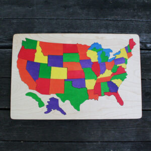 USA wooden puzzle