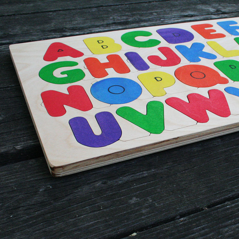 wooden alphabet puzzle the puzzle man With wooden letter puzzle