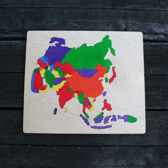Asia wooden puzzle