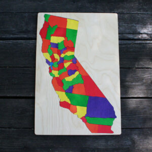 California wooden puzzle