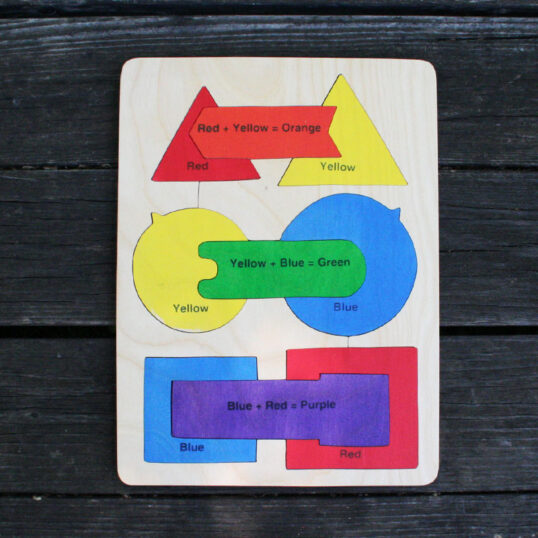 Colors and shapes wooden puzzle