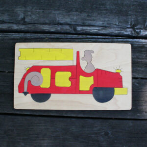 Firetruck Wooden Puzzle