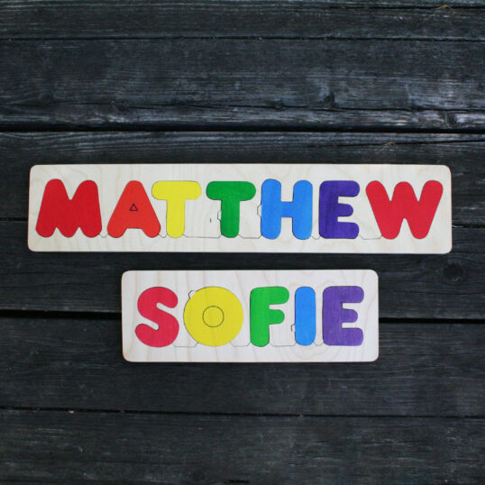 Name wooden puzzle