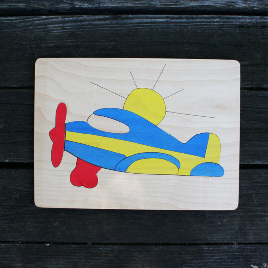 Airplane Wooden Puzzle
