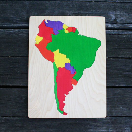 South America wooden puzzle