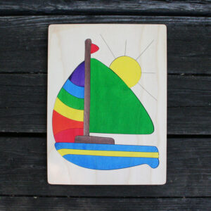 Sailboat Wooden Puzzle