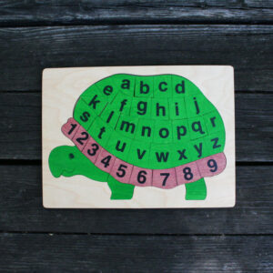 Alpha turtle wooden puzzle