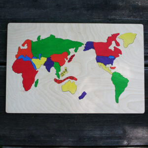 World wooden puzzle